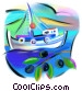 Greek fishing boat Fine Art graphic