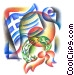 Greek flag with wreath Fine Art graphic