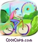 boy riding his bicycle Fine Art illustration