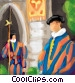 Italian ceremonial guards Stock Art image
