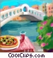 Rialto Bridge Venice Italy Stock Art image