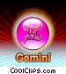 Gemini Zodiac Stock Art picture