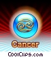 Cancer Zodiac Stock Art image