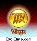 Virgo Zodiac Stock Art graphic