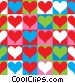 Checkerboard Hearts Fine Art graphic