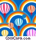 Hot Air Balloons and Rainbows Stock Art picture