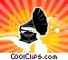 Old Style Phonograph Stock Art picture
