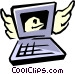 Computer with E-mail Vector Clipart picture