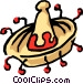 Mexican sombrero Vector Clipart illustration