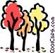 Tress in fall Vector Clipart illustration
