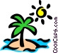 Deserted island Vector Clipart image