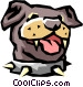 Dog's face Vector Clipart graphic