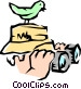 Bird watcher Vector Clipart picture