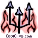 Fires of hell Vector Clipart graphic