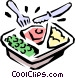 TV dinner Vector Clipart illustration