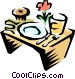 Breakfast tray Vector Clipart picture