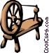 Spinning wheel Vector Clip Art image
