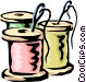 Needles & thread Vector Clipart graphic