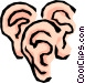 Ears Vector Clip Art graphic