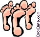 Feet Vector Clipart graphic
