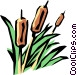 Bulrushes Vector Clipart graphic