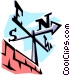 Weather vane Vector Clipart illustration