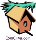 Birdhouse Vector Clipart graphic
