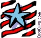 Stars and stripes Vector Clipart picture
