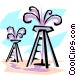 Oil wells Vector Clipart image