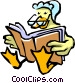 Mother goose reading a book Vector Clipart picture