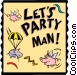 Let's Party! Vector Clip Art graphic