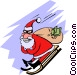 Santa with a bag of loot Vector Clipart illustration