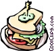 Sandwich Vector Clipart illustration