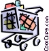 Grocery cart Vector Clip Art image