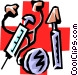 Medical instruments Vector Clipart picture