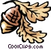 Acorns Vector Clip Art graphic