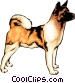 Akita dog Vector Clipart picture