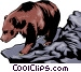 Grizzly bear Vector Clipart graphic