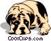 Sad looking Dog Vector Clipart graphic