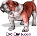 Bulldog Vector Clipart illustration