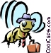Worker bee Vector Clipart illustration