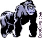 Gorillas Vector Clipart graphic
