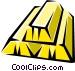 Gold bars Vector Clip Art image