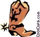 Cowboy boots Vector Clip Art graphic