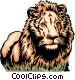 African lion Vector Clipart illustration