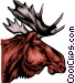 Moose head Vector Clipart graphic