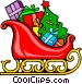 Santa's sleigh Vector Clipart graphic