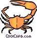 Cartoon crab Vector Clipart picture
