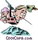 Cartoon gondola ride Vector Clipart picture