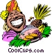 Cartoon food platter Vector Clipart picture